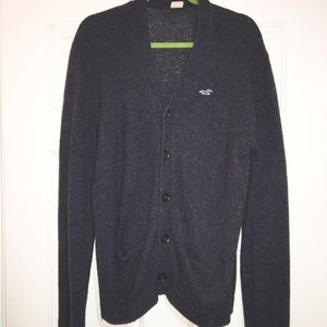 Hollister charcoal cardigan size large
